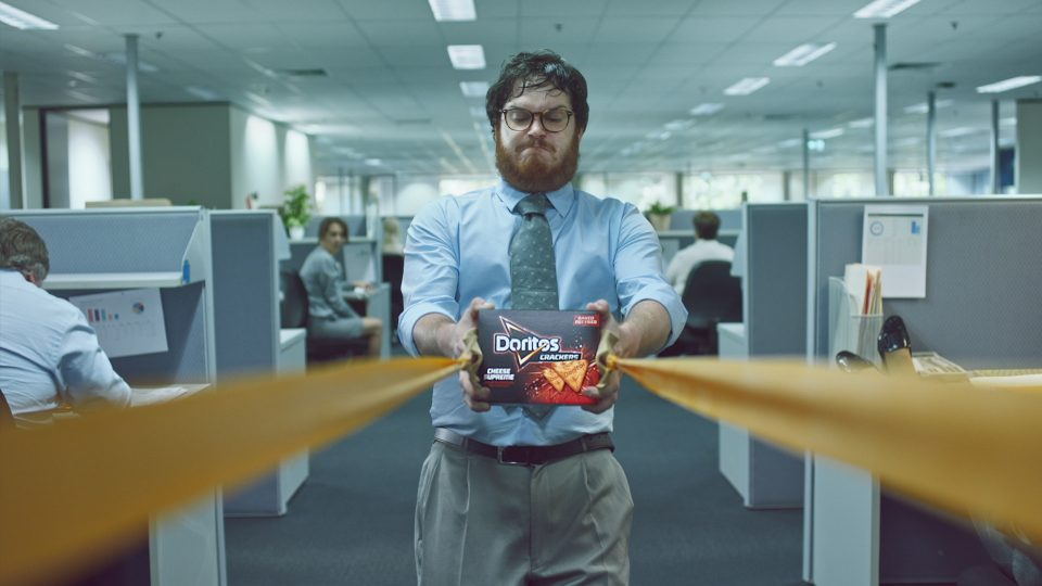 Preview image for a video called Slingshot directed by Christopher Hill for Doritos