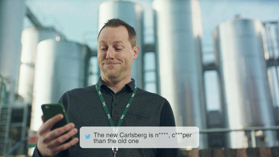 Preview image for a video called Keen Tweets directed by Richard Pengelley for Carlsberg